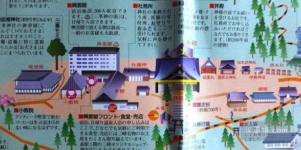三峯神社 境内見取図