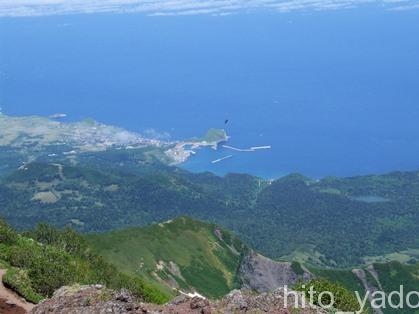 利尻富士から見たオホーツク海