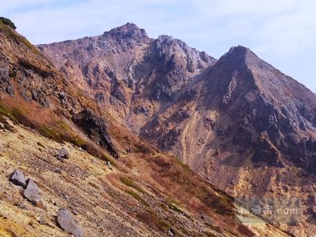 茶臼岳から三斗小屋46
