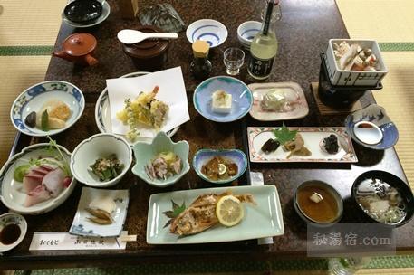 小谷温泉 山田旅館 宿泊 その2 お食事編