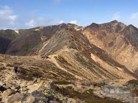 三斗小屋温泉までの道のり 茶臼岳~峰の茶屋経由