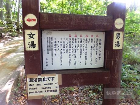 小谷温泉 奥の湯 雨飾高原露天風呂8