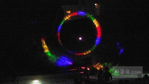 杉乃井ホテル アクアガーデンの光のショー
