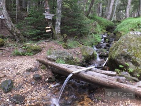 本沢温泉キャンプ場前の水場