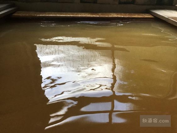 本沢温泉の茶色く濁った内湯
