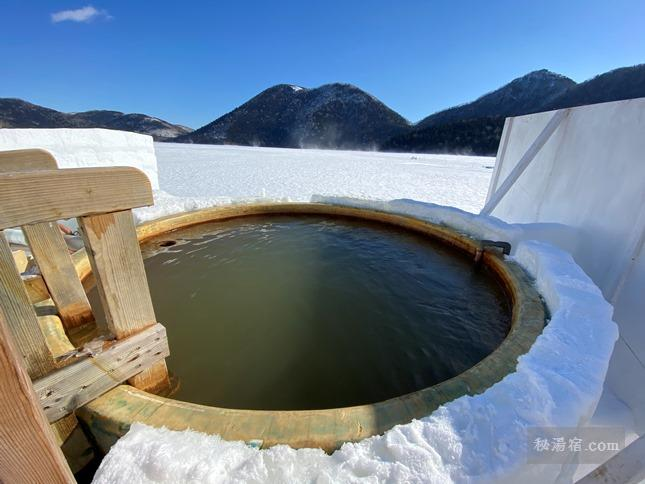 しかりべつ湖コタン 氷上露天風呂 ★★★★★