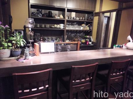 黒川温泉 山河のカフェのカウンター