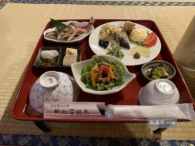 【栃木】奥鬼怒温泉郷 日光沢温泉 宿泊 その2 お食事編